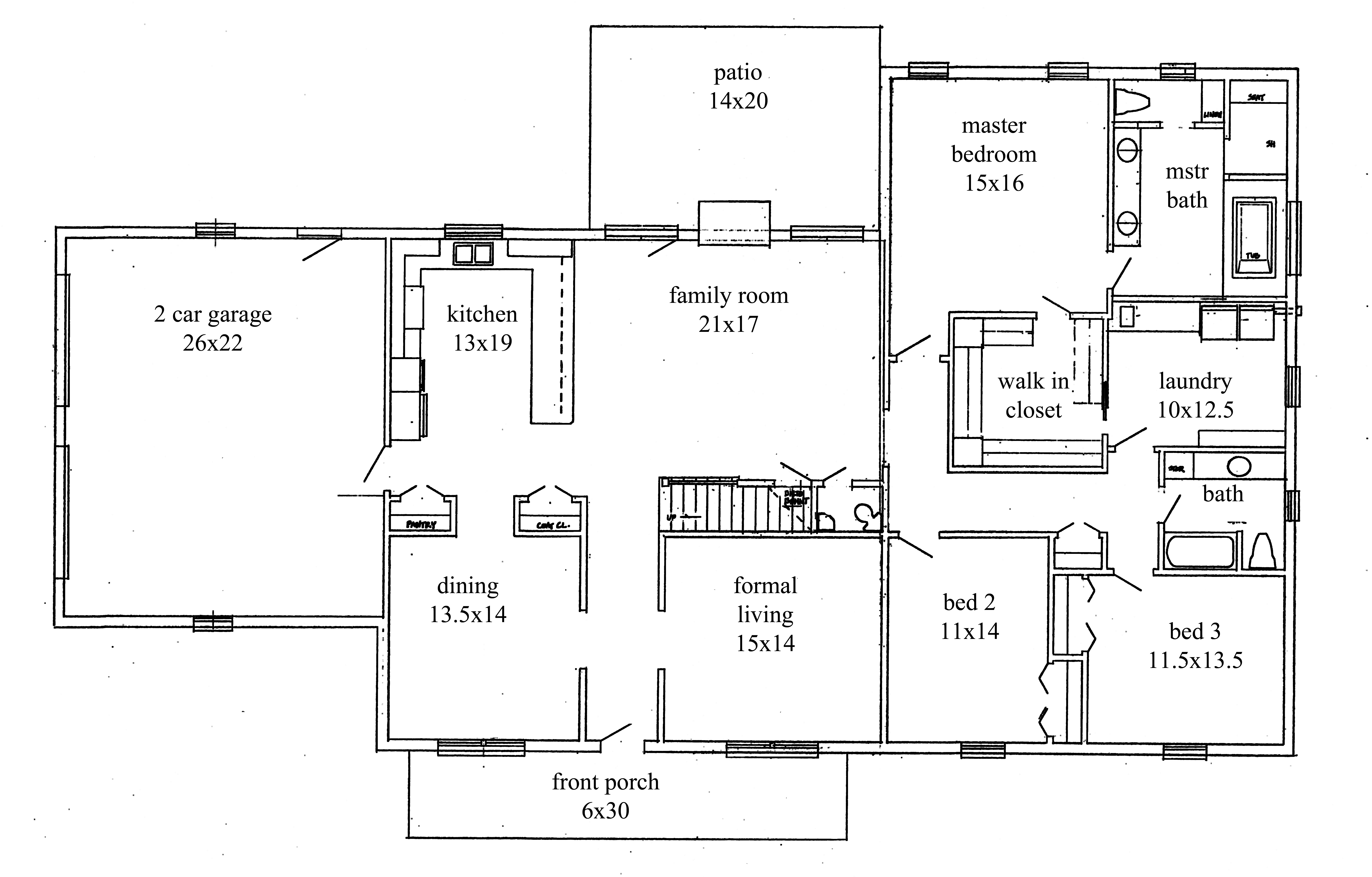 House Plans New Construction Home Floor Plan Greenwood - Ranch open floor plans